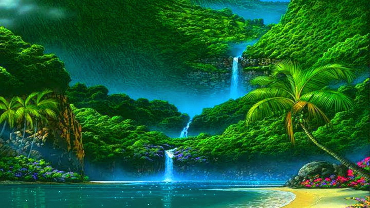 nature wallpaper hd,natural landscape,water resources,nature,body of water,waterfall