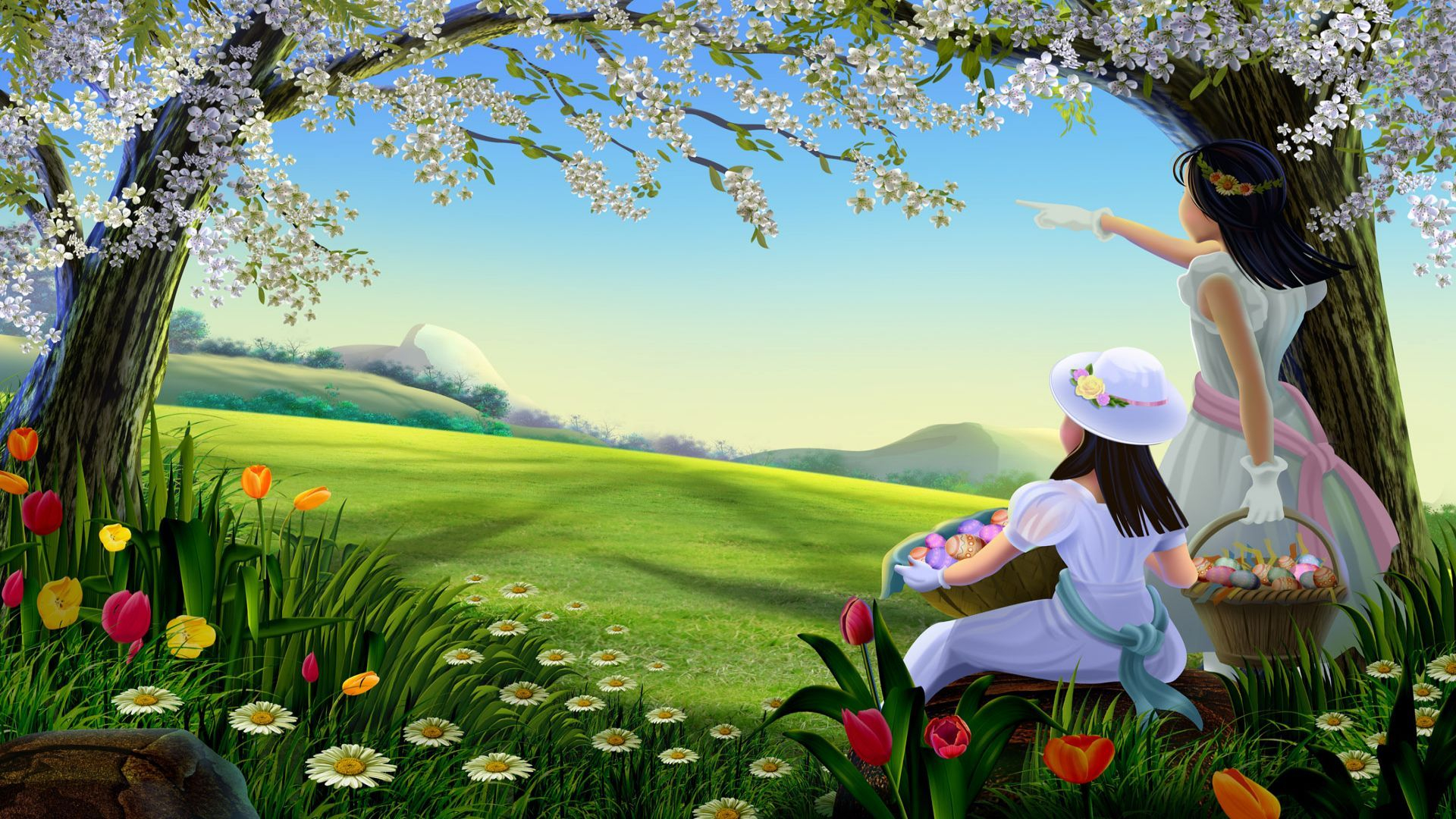 nature wallpaper hd,people in nature,natural landscape,nature,spring,meadow