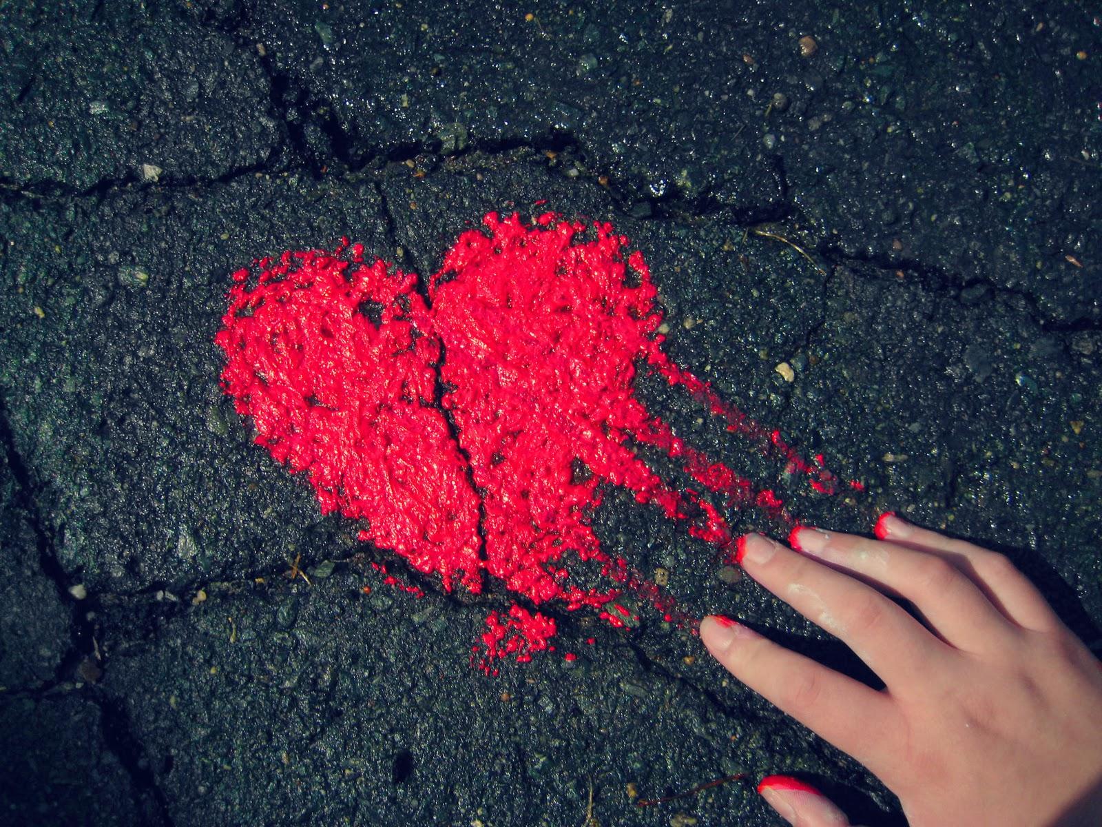 wallpaper hd love,red,carmine,heart,road surface,asphalt