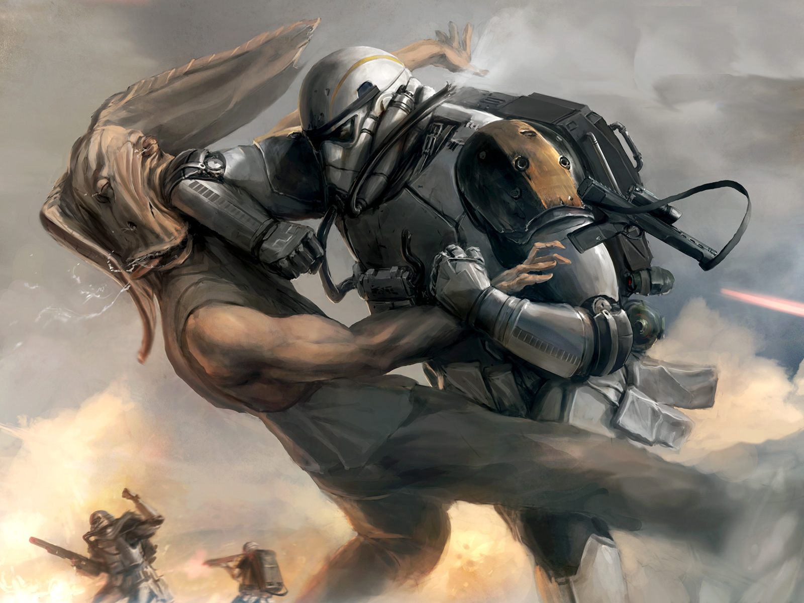 star wars wallpaper,action adventure game,cg artwork,strategy video game,pc game,illustration