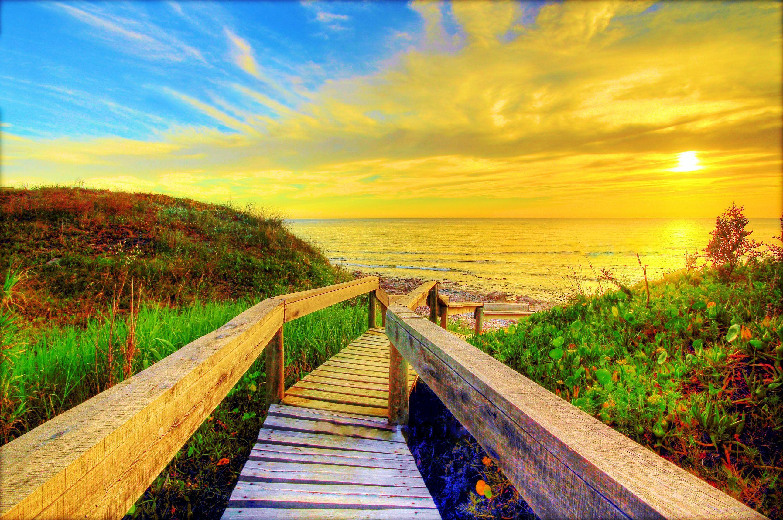 wallpaper hd,natural landscape,nature,boardwalk,sky,natural environment