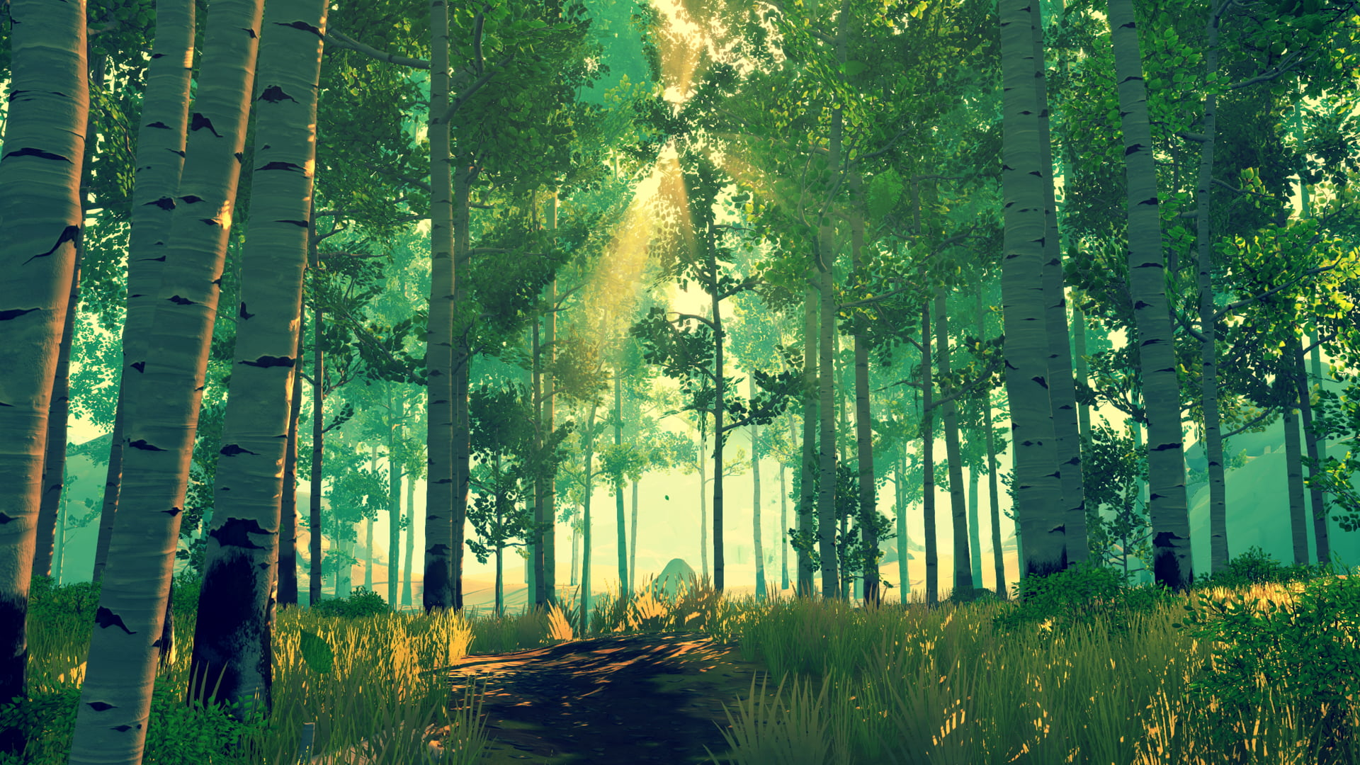 firewatch wallpaper,people in nature,tree,nature,green,forest