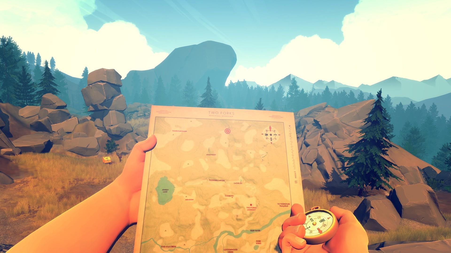 firewatch wallpaper,sky,adventure game,illustration,anime,animation