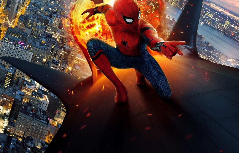 spiderman homecoming wallpaper,fictional character,superhero,spider man,cg artwork,animation