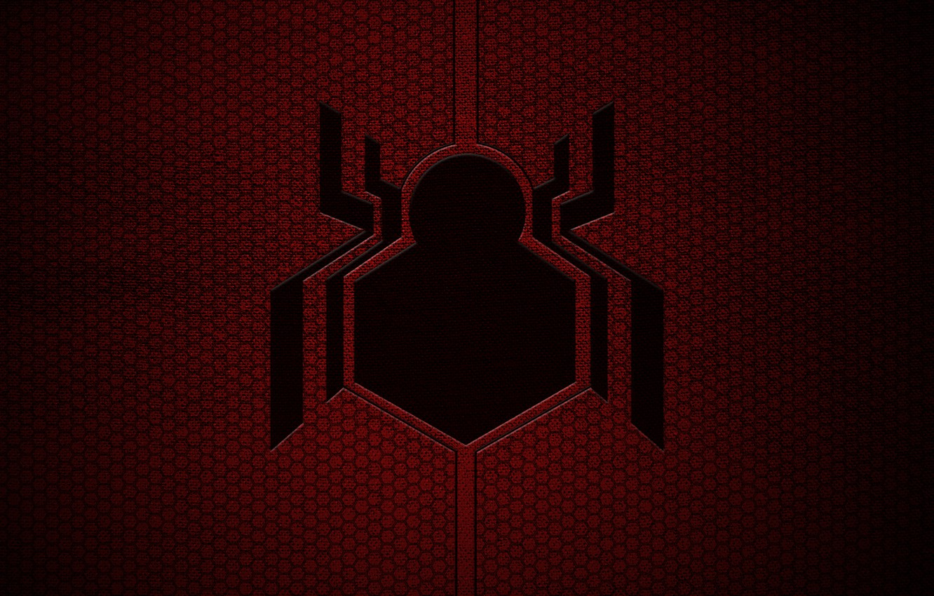 spiderman homecoming wallpaper,red,logo,font,graphics,graphic design