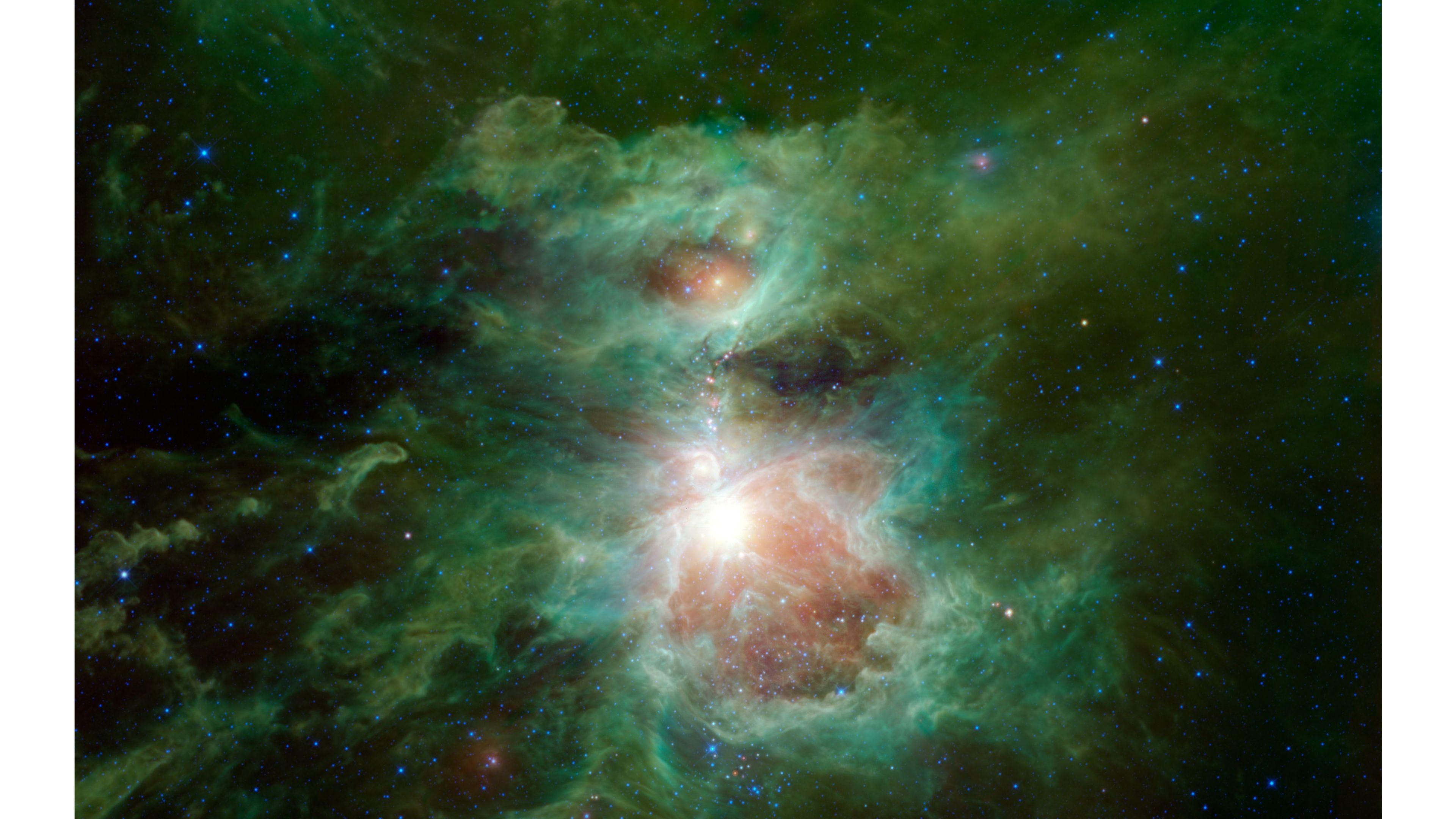 space wallpaper 4k,nature,nebula,astronomical object,green,sky