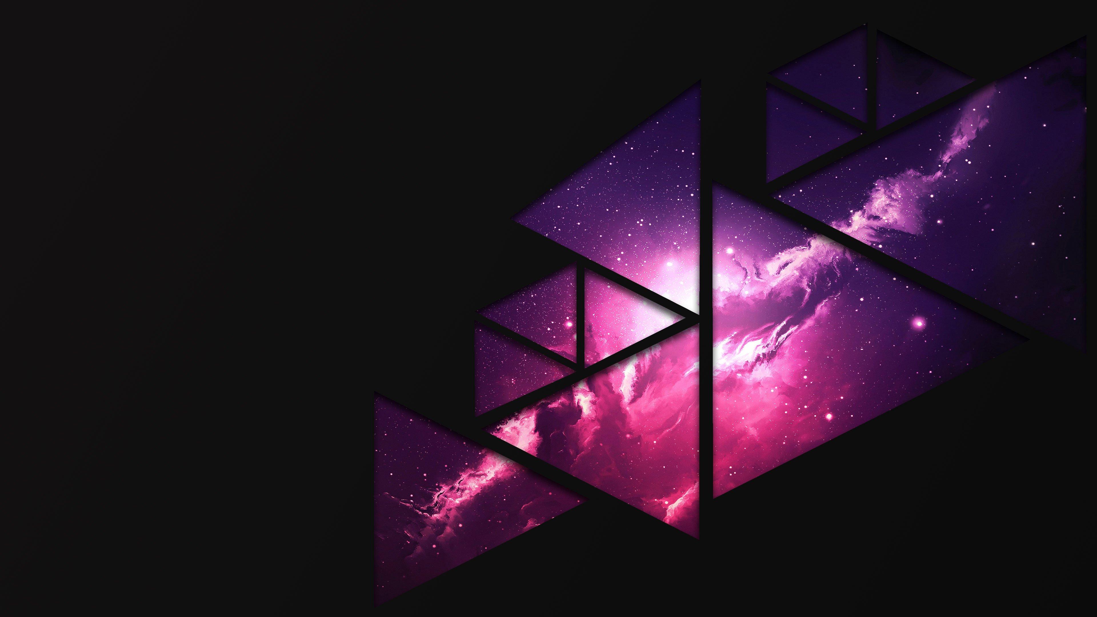 space wallpaper 4k,purple,violet,light,triangle,graphic design