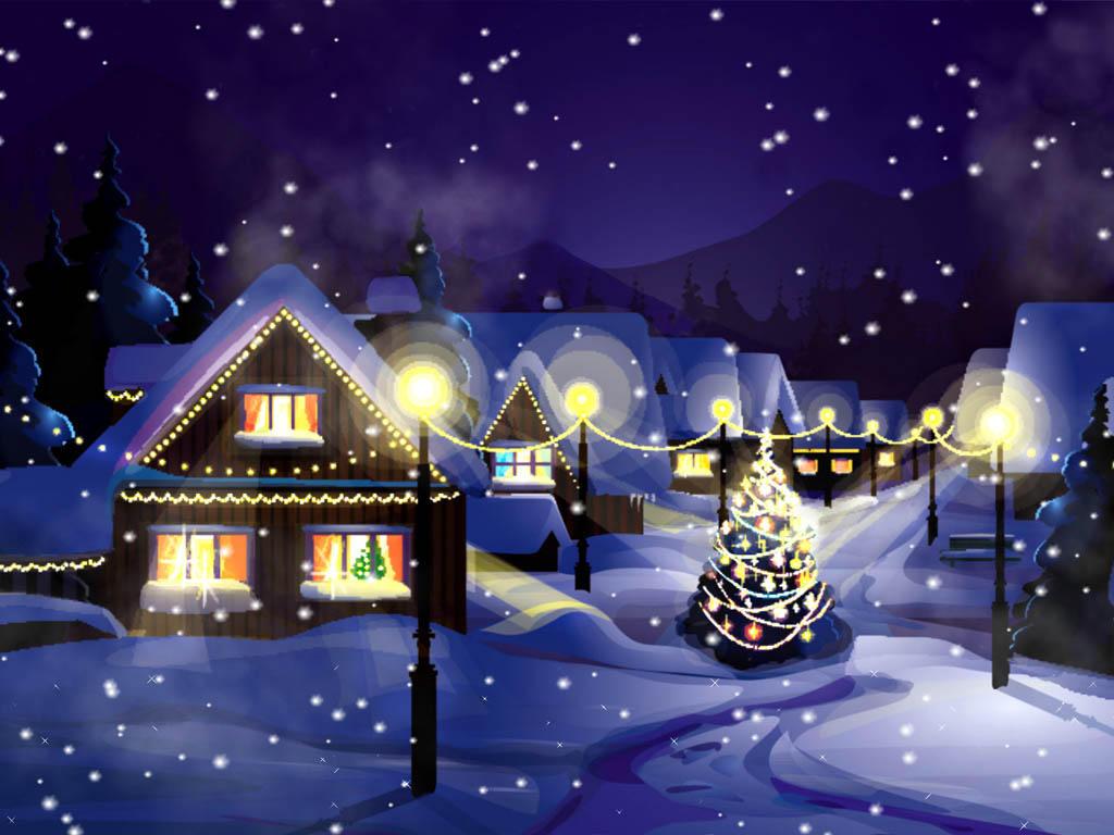 animated christmas wallpaper,winter,christmas eve,christmas,sky,light