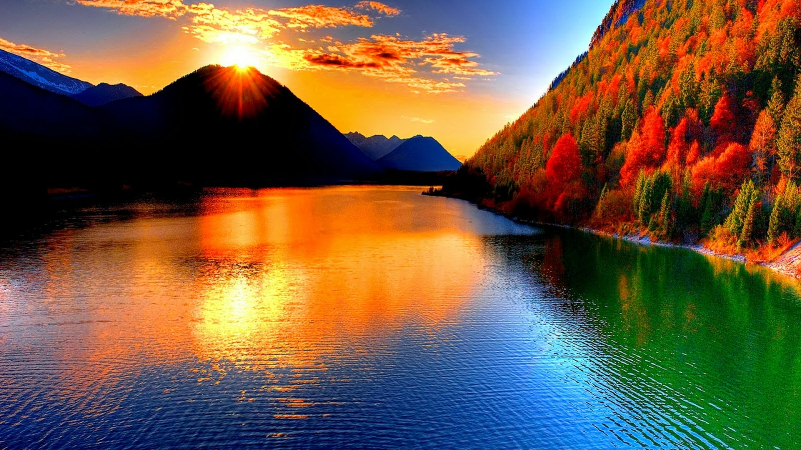 nature wallpapers hd free download,natural landscape,nature,sky,reflection,mountain