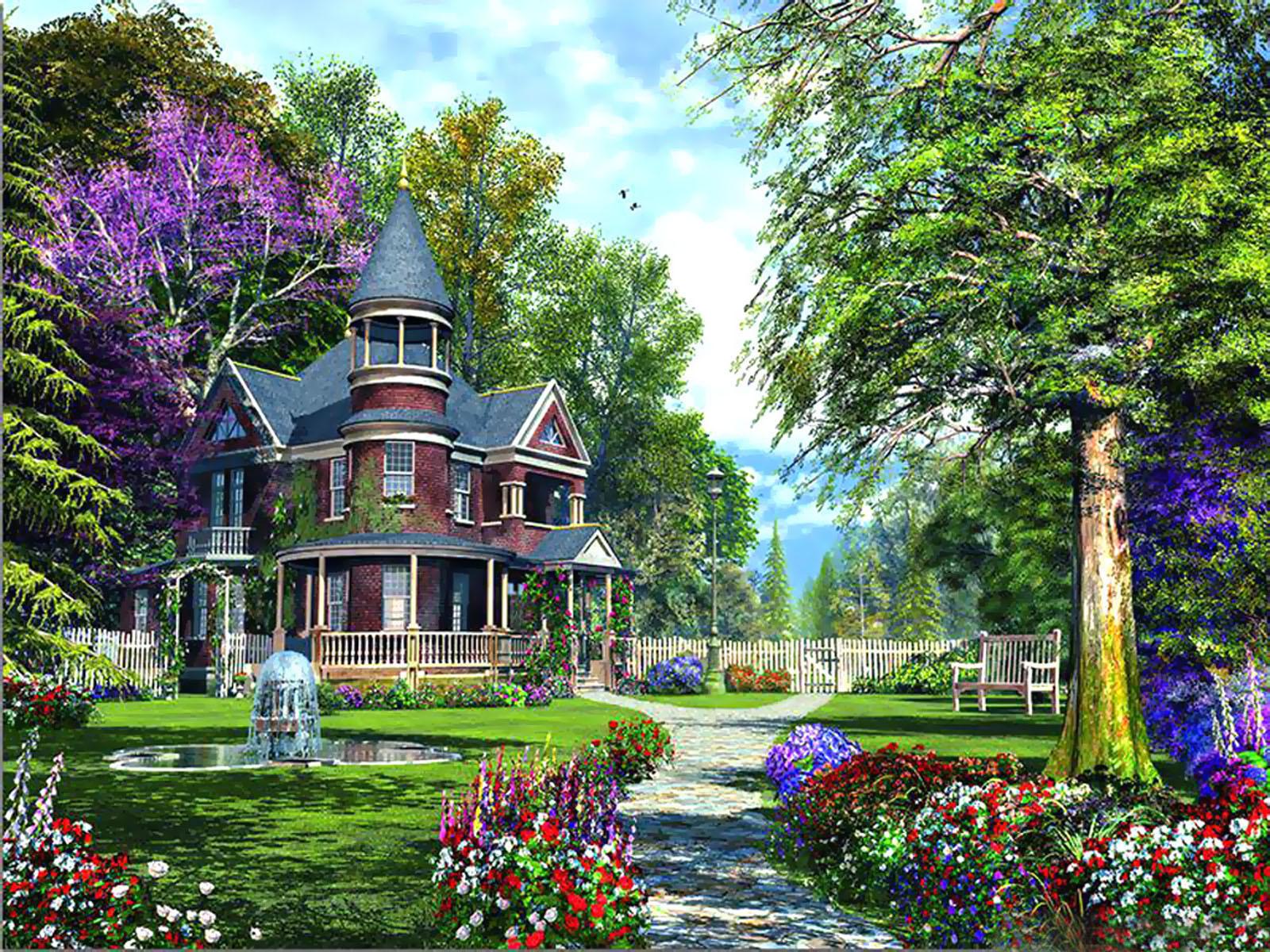 love flowers wallpapers,botanical garden,property,garden,estate,natural landscape