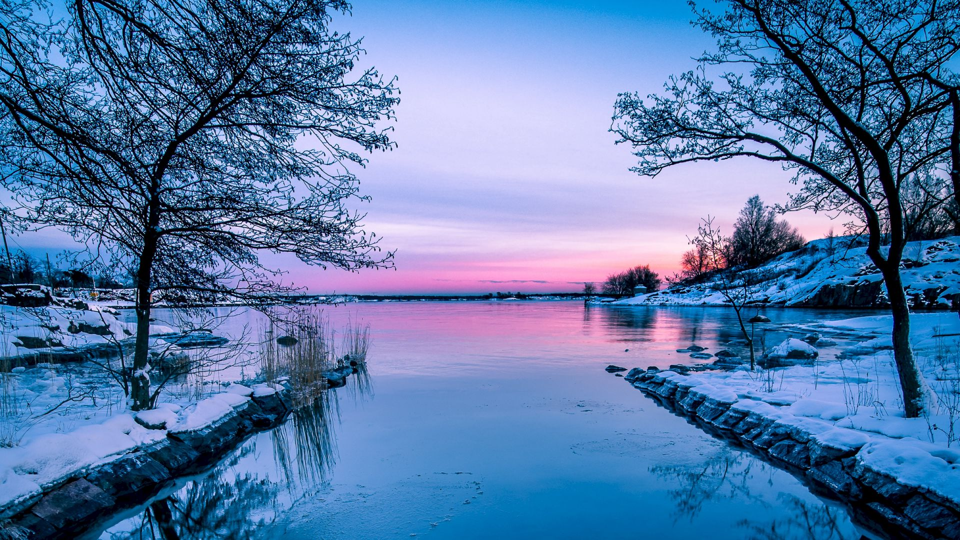 galaxy s7 wallpaper hd 1080p,natural landscape,nature,body of water,sky,winter