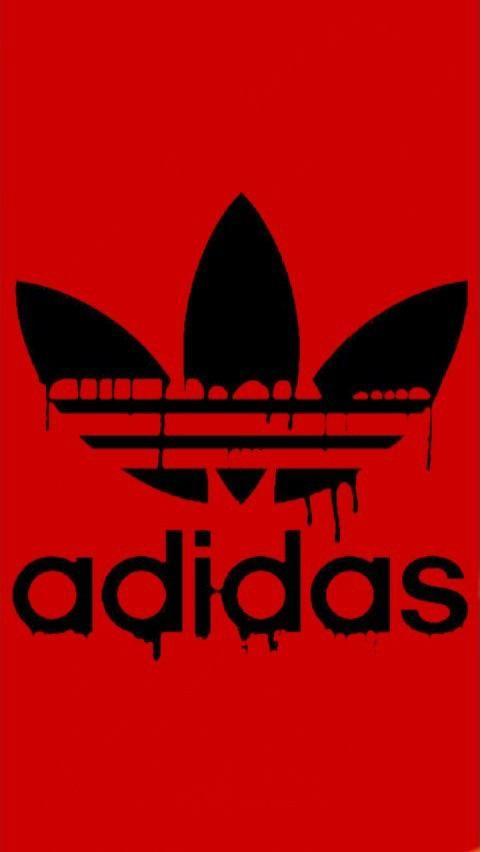 adidas originals wallpaper,red,text,logo,font,t shirt