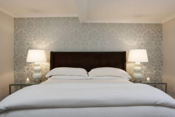 grey wallpaper bedroom,bedroom,bed,furniture,room,bed sheet