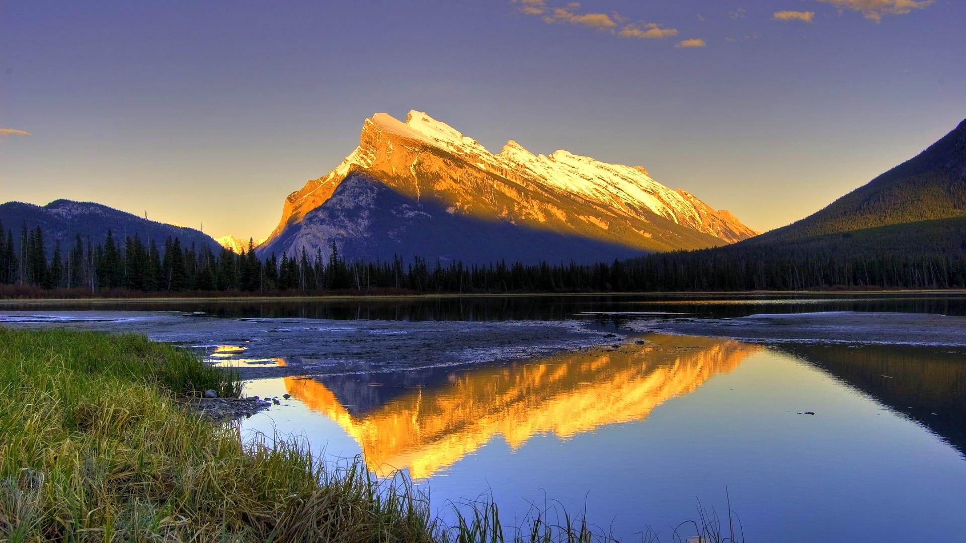 windows 10 wallpaper download,natural landscape,nature,reflection,mountain,sky