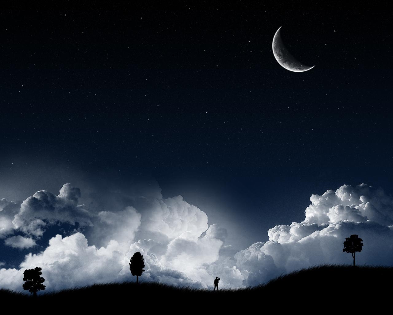 cool dark wallpapers,sky,nature,moon,cloud,moonlight