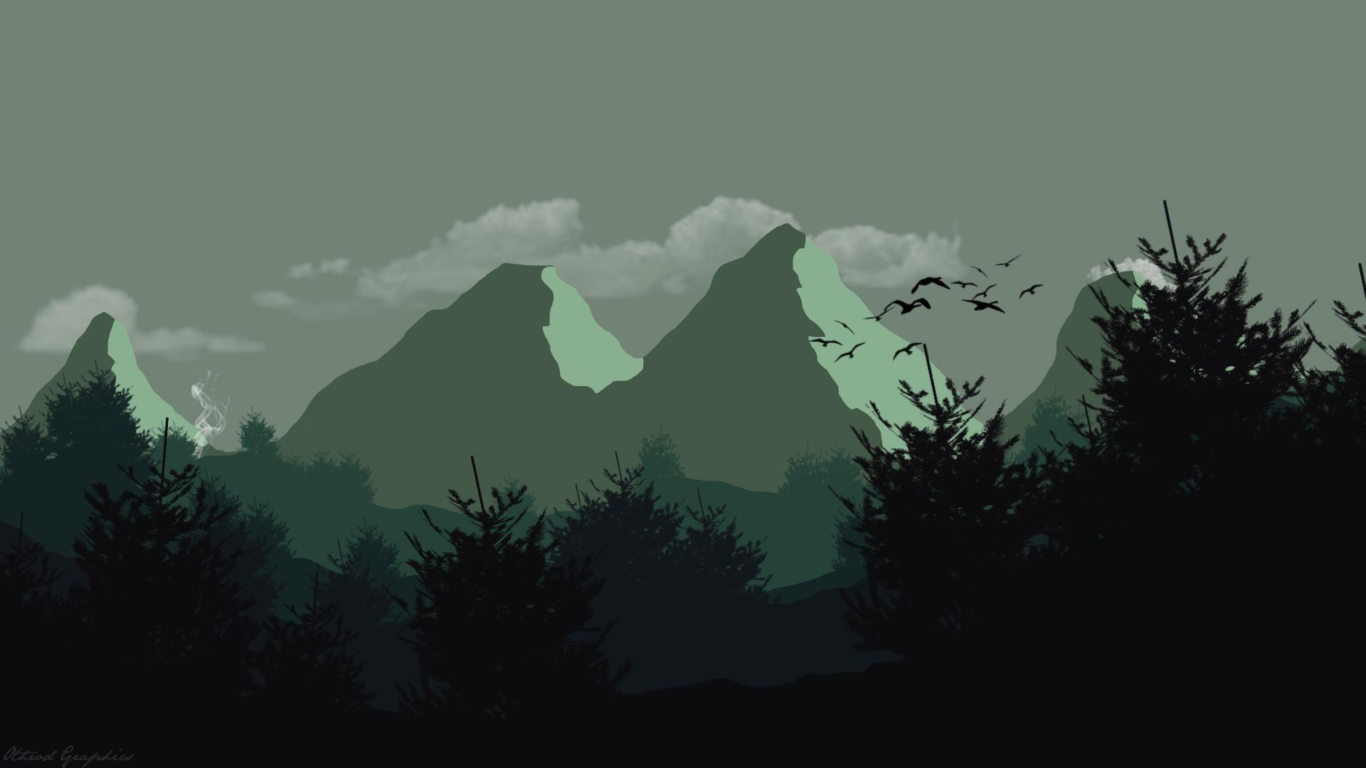 flat design wallpaper,nature,mountainous landforms,sky,mountain,mountain range