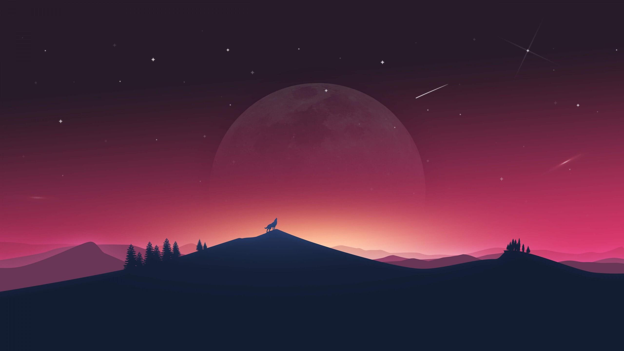 flat design wallpaper,sky,nature,red,pink,atmosphere