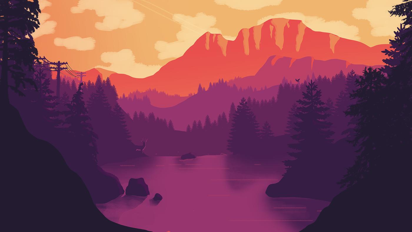 flat design wallpaper,nature,natural landscape,sky,mountain,pink