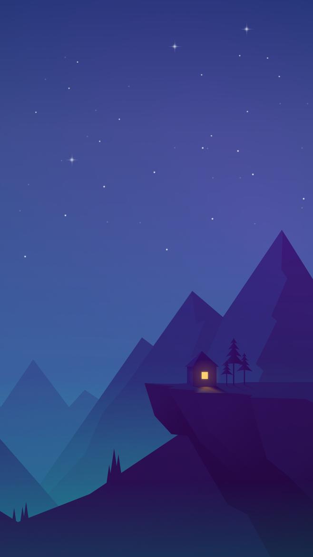 flat design wallpaper,sky,blue,night,purple,cartoon