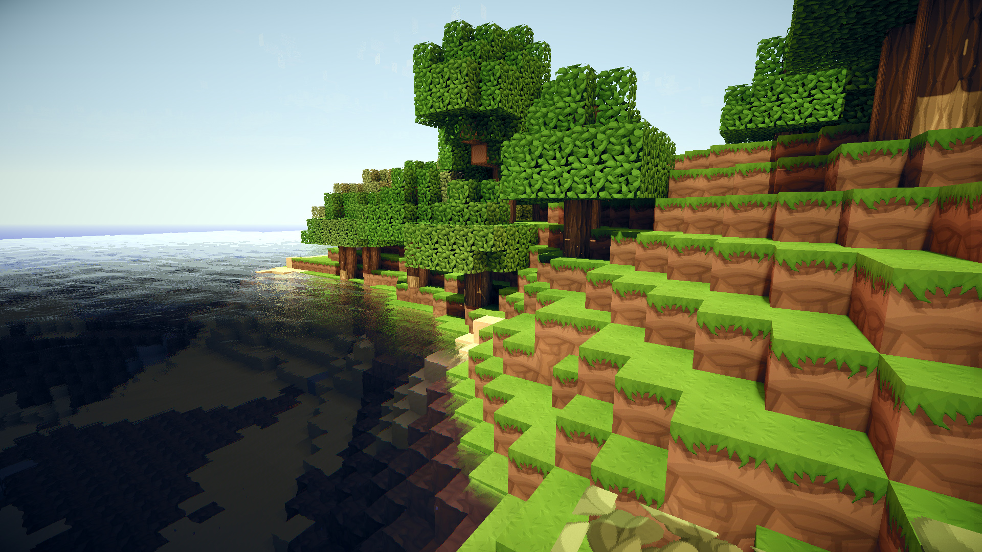 minecraft wallpaper hd,biome,video game software,tree,grass,software
