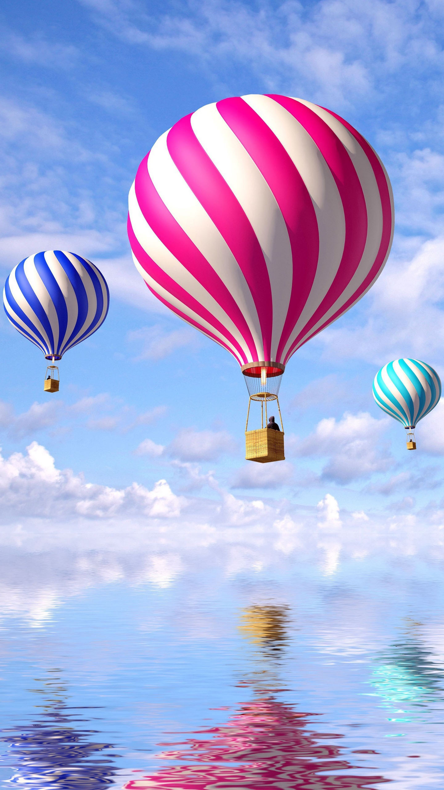 wallpaper keren 3d,hot air balloon,hot air ballooning,balloon,air sports,mode of transport