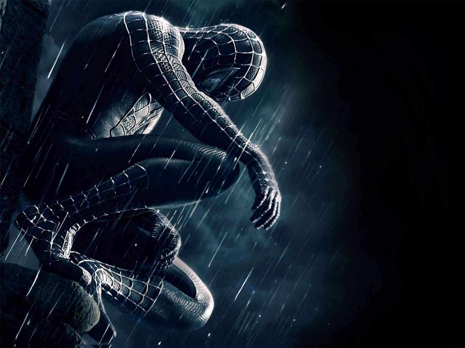 black spiderman wallpaper,cg artwork,fictional character,organism,illustration,space
