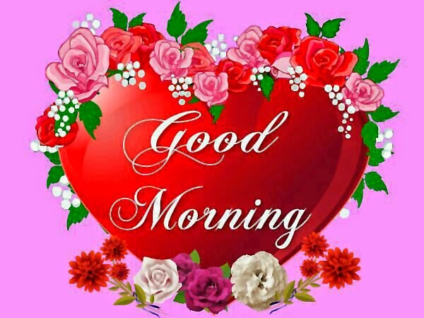 good morning wallpaper image,pink,heart,text,valentine's day,love