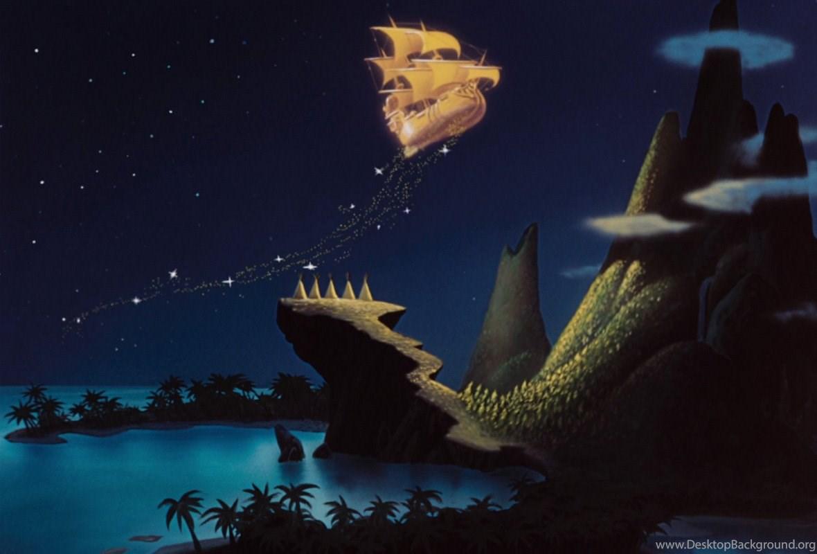 peter pan wallpaper,sky,jaw,dinosaur,mouth,tyrannosaurus