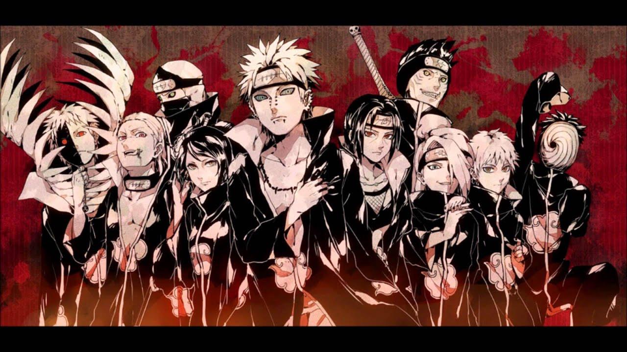 akatsuki wallpaper,anime,cartoon,naruto,animation,artwork
