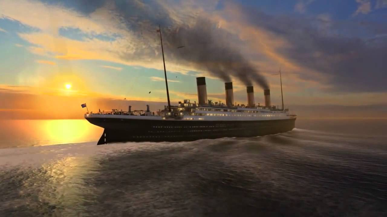 titanic wallpaper,vehicle,ocean liner,ship,boat,sky