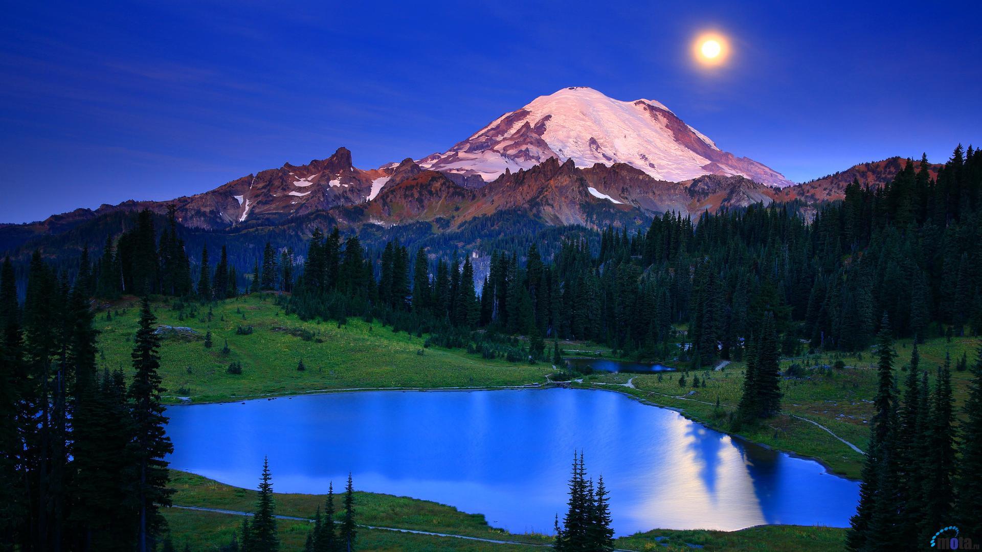 mt rainier wallpaper,mountainous landforms,mountain,nature,natural landscape,sky