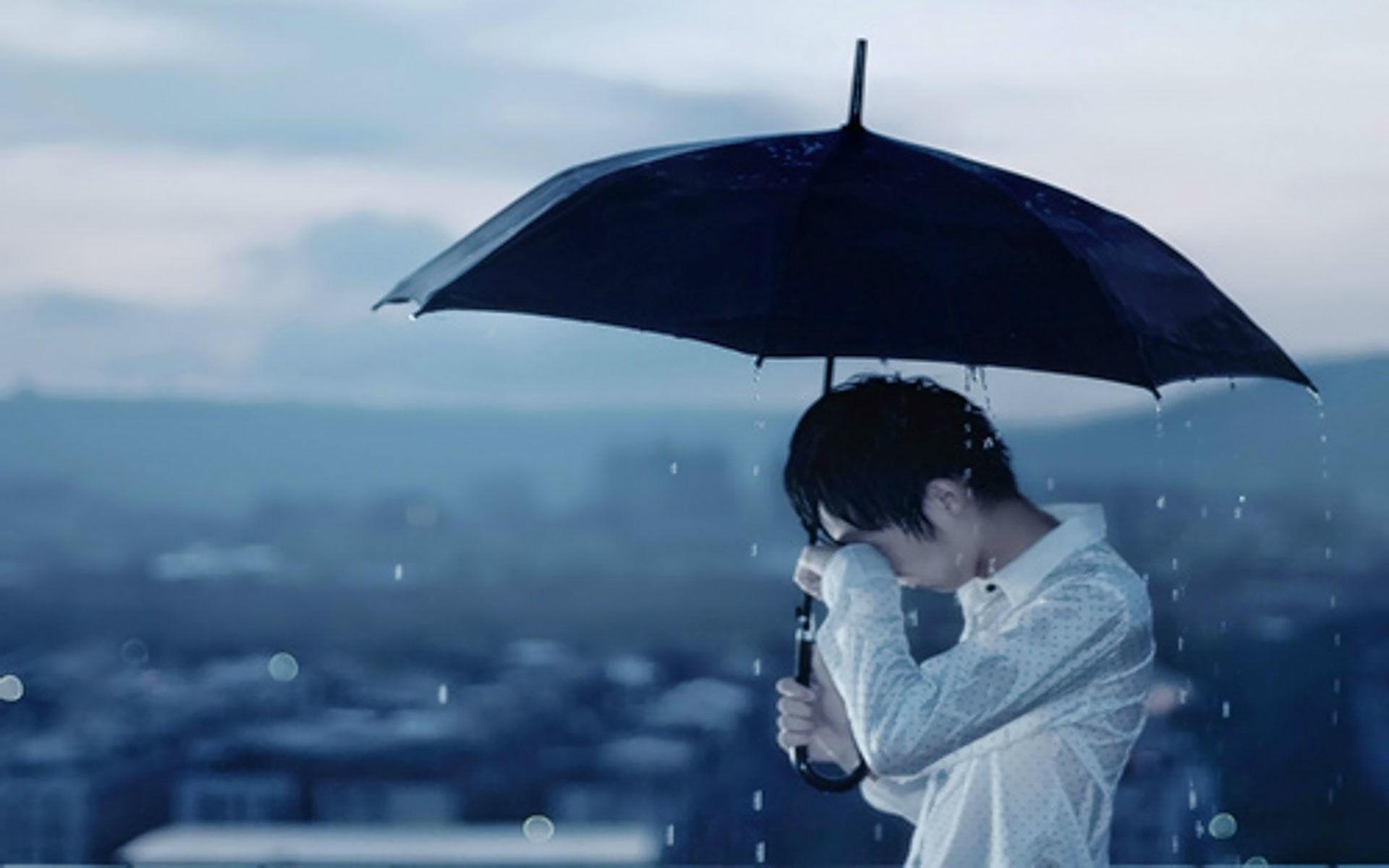 alone wallpaper,umbrella,sky,rain,cloud,fashion accessory