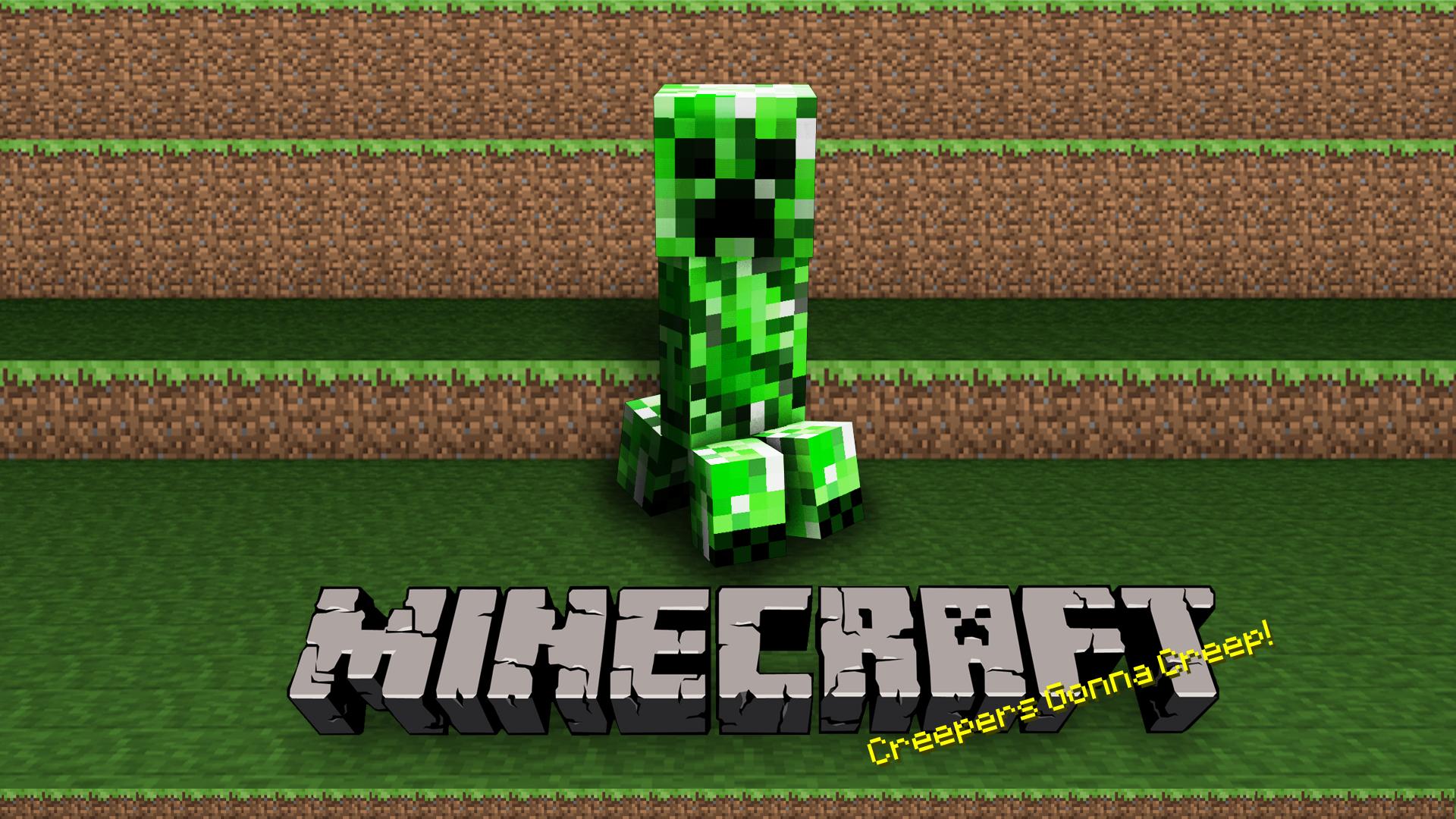 minecraft wallpaper,green,video game software,grass,fictional character,minecraft