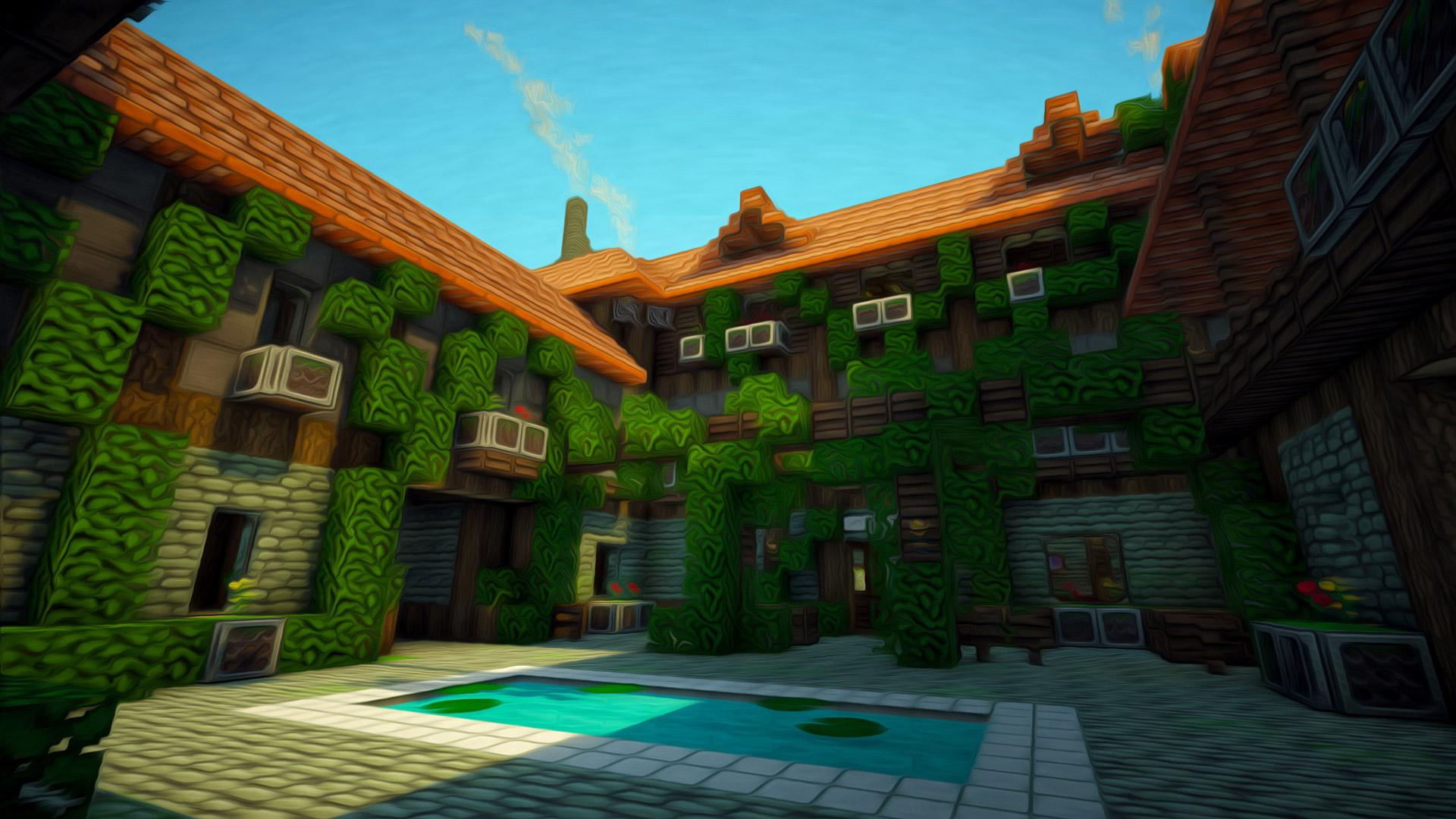 minecraft wallpaper,biome,building,house,screenshot,adventure game