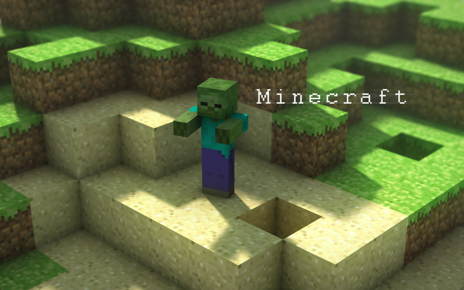 minecraft wallpaper,green,biome,pc game,video game software,grass
