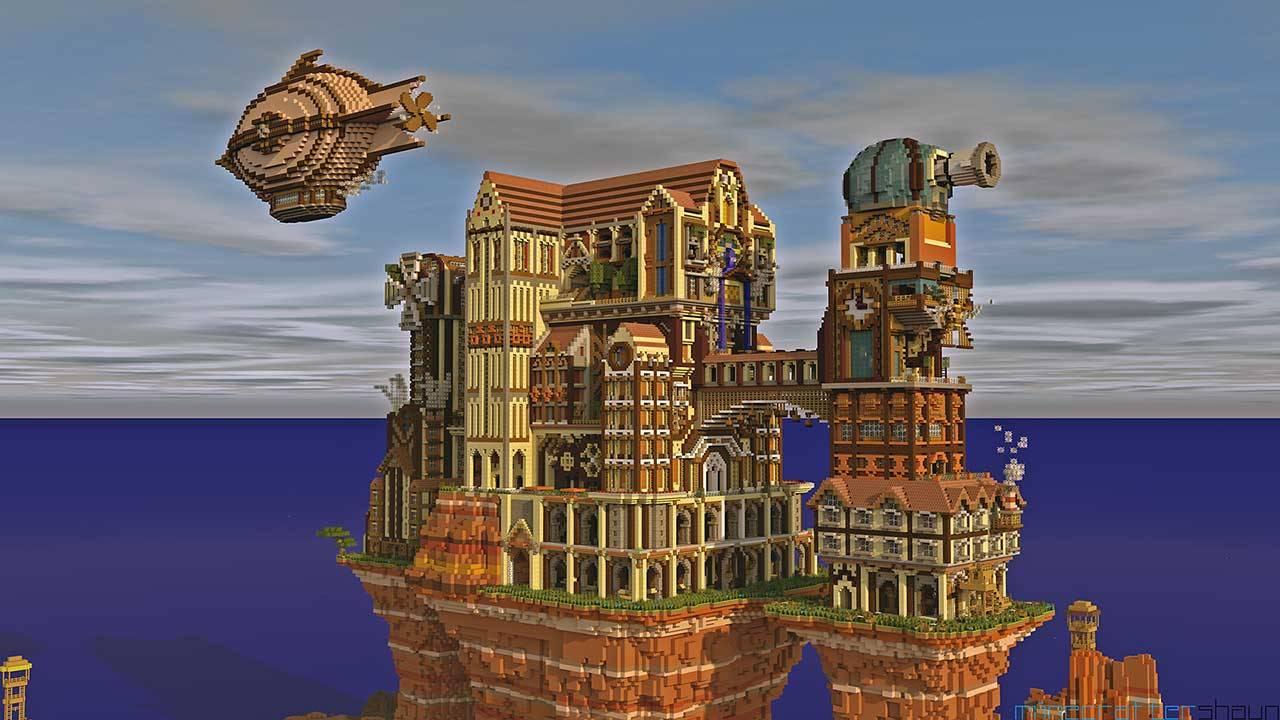 minecraft wallpaper,landmark,architecture,strategy video game,building