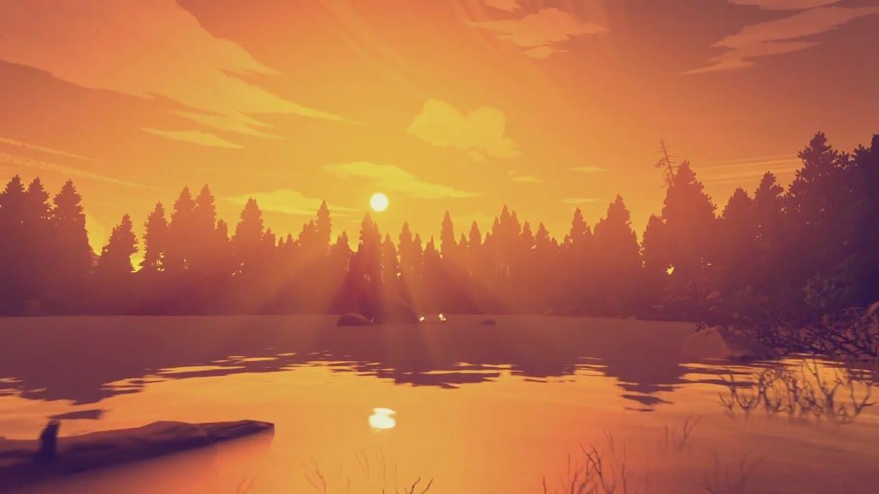 firewatch hd wallpaper,sky,natural landscape,nature,sunrise,atmospheric phenomenon