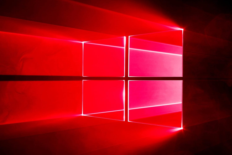 red windows 10 wallpaper,red,light,neon,lighting,shelf