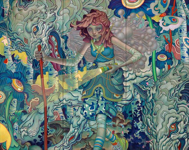 james jean wallpaper,art,psychedelic art,painting,tapestry,mural