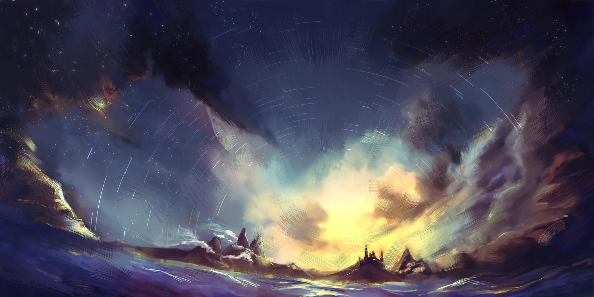 pixiv wallpaper,sky,atmosphere,cloud,geological phenomenon,space