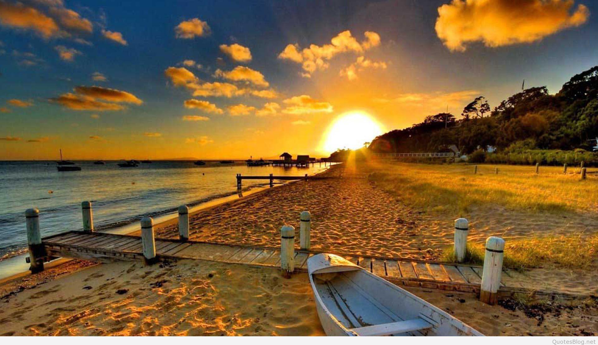 free summer desktop wallpaper,sky,nature,natural landscape,sunset,shore