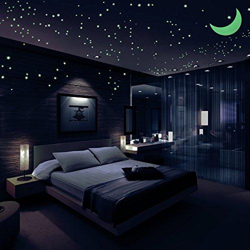 glow in the dark wallpaper for bedroom,bedroom,room,ceiling,interior design,lighting