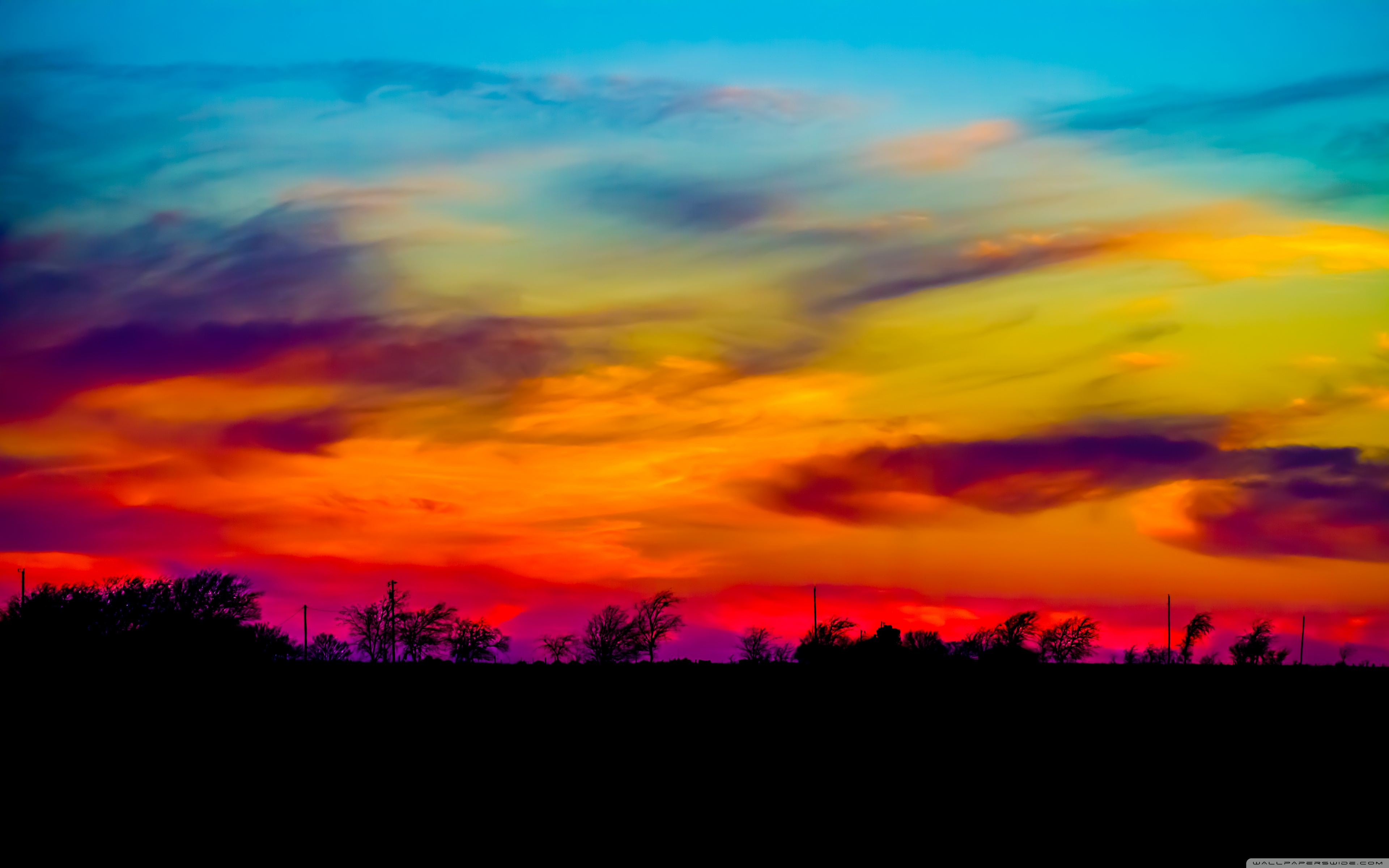 colorful sky wallpaper,sky,afterglow,red sky at morning,sunset,nature