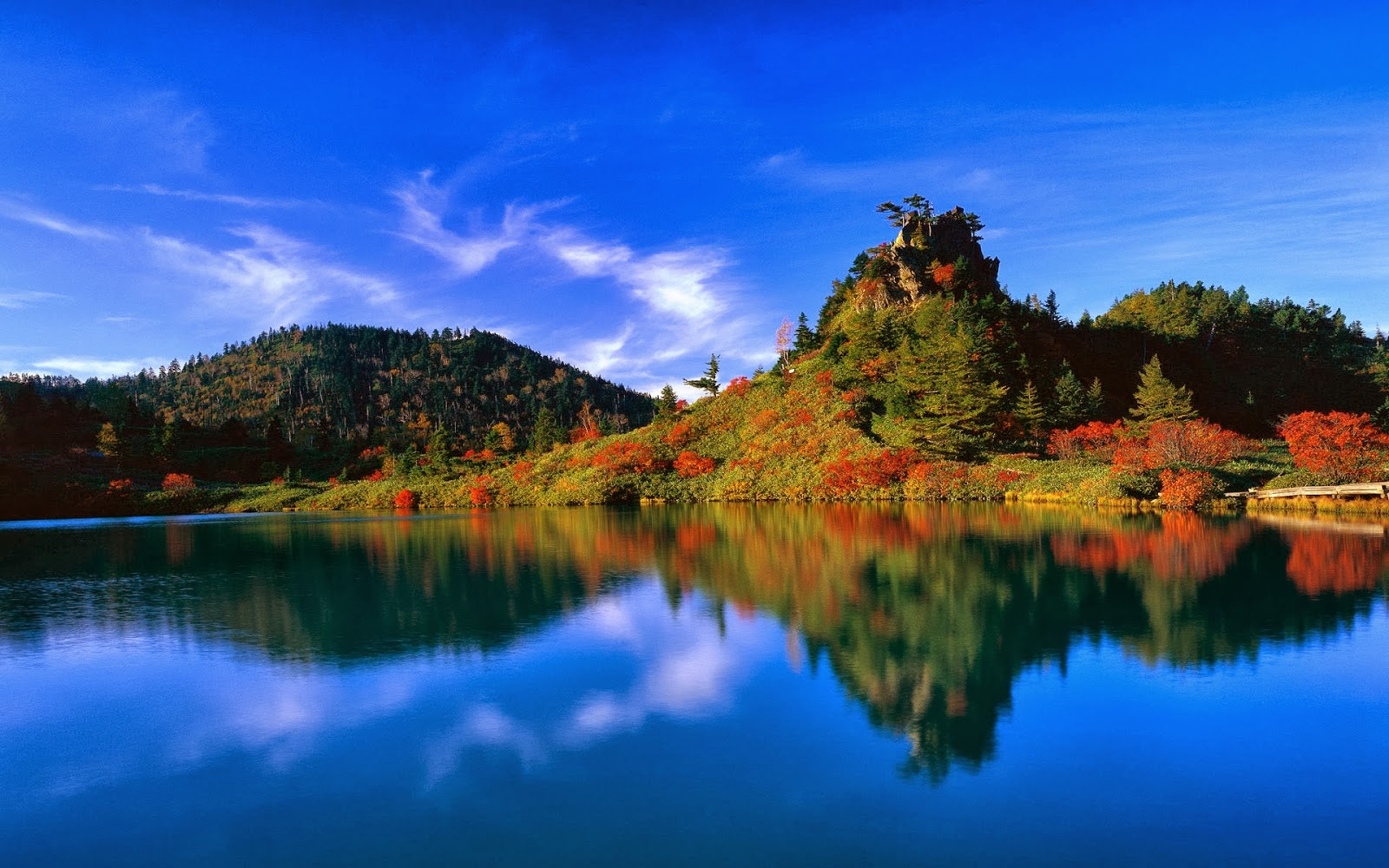full hd nature wallpaper download,reflection,nature,sky,natural landscape,water