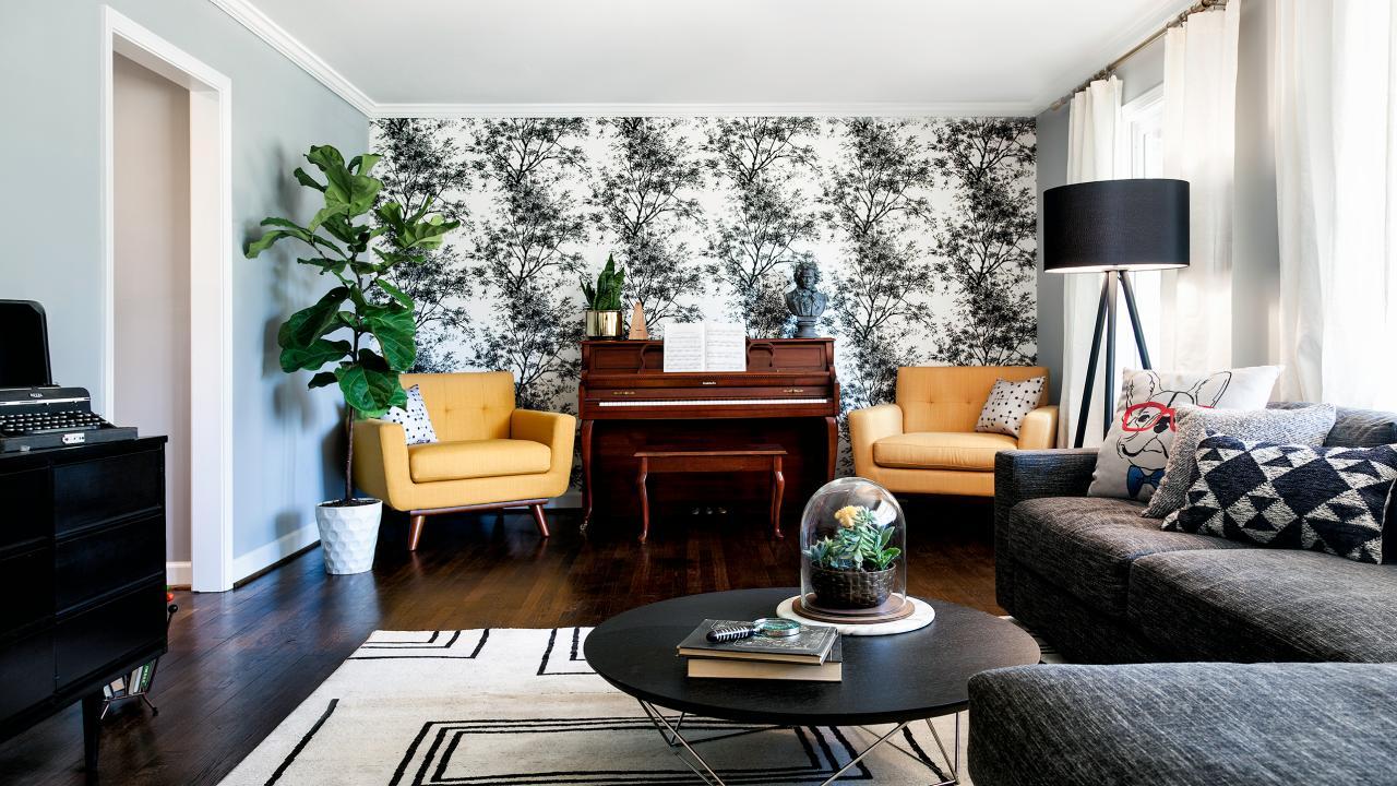 wallpaper decorating ideas living room,living room,room,interior design,furniture,property