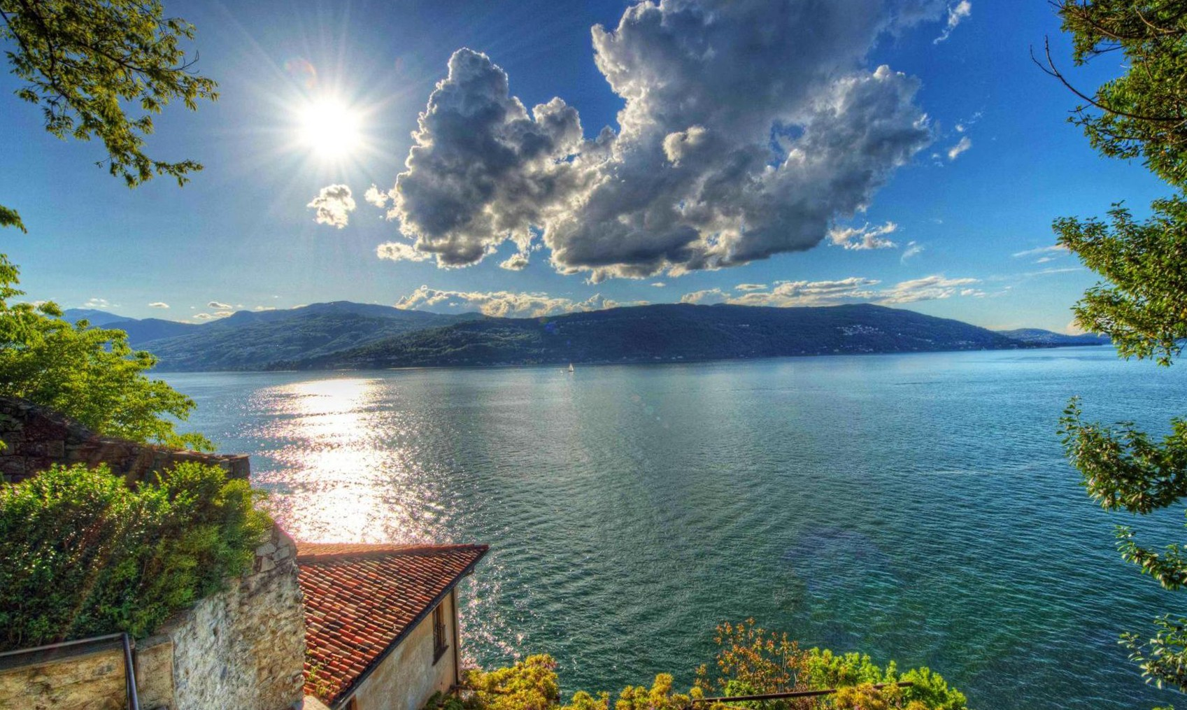 nature view wallpaper,natural landscape,nature,body of water,sky,lake