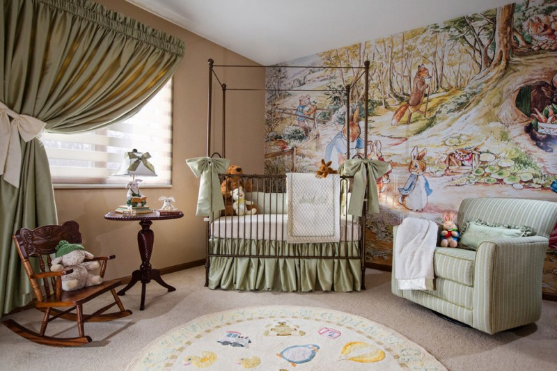 baby girl bedroom wallpaper,room,furniture,interior design,property,bedroom
