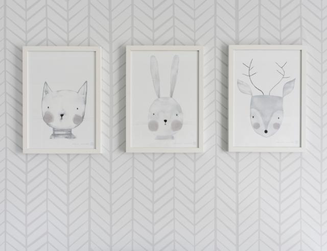 unisex nursery wallpaper,white,hare,paper,rabbit,wallpaper