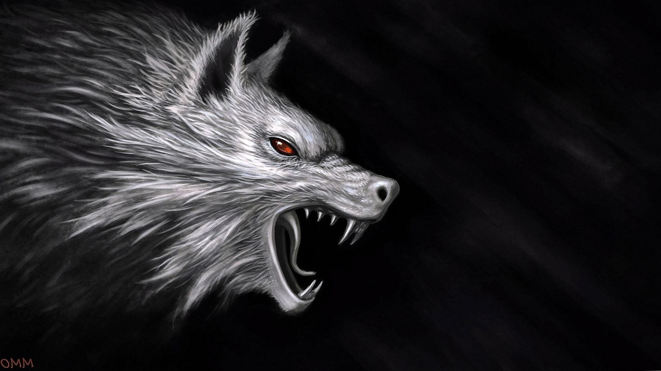 wallpaper hd 4k,facial expression,black and white,snout,fang,tooth