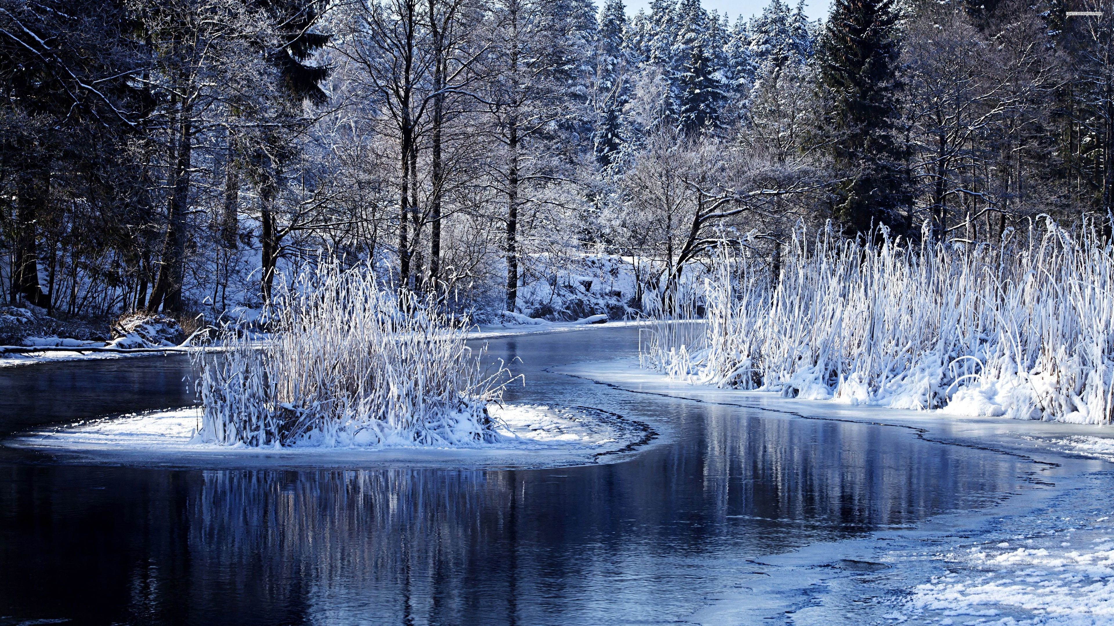 4k ultra hd wallpapers,winter,natural landscape,water,nature,snow